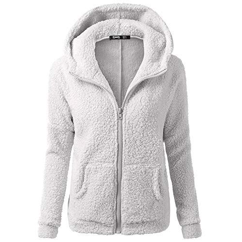 Bazhahei giacca donna elegante,donna felpa con cappuccio hooded maglione cappotto inverno caldo lana cerniera cappotto cotone outwear pile pelliccia caldo inverno manica lunga cappotto coat parka
