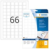 Herma 10107 - Etiquetas despegables A4, 25.4 x 25.4 mm, cuadrado, papel mate, 1650 unidades, color blanco