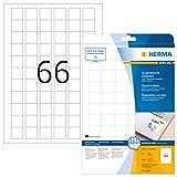 HERMA 10107 Removable labels A4 25,4x25,4 mm square white Movables/removable paper matt 1650 pcs.
