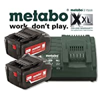 Metabo 2 x 18v 5.2Ah Batteries ASC30-36 Charger Plus Inlay
