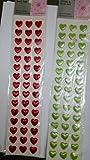 #10: Aptitude Heart Shaped Crystal Sticker Set of 2