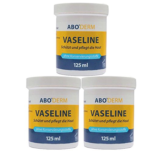ABODERM Vaseline 375 ml (3x 125 ml) Kosmetikum in Arzneibuchqualität zum Schutz und zur Pflege der Haut