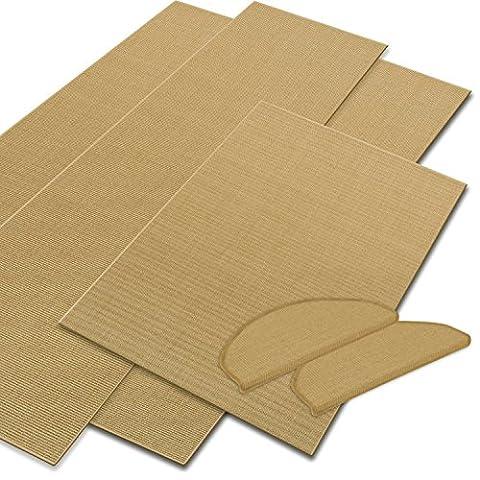 casa pura® Sisal Floor Runners & Rugs, Natural | Customisable Width & Length | Matching Stair Treads Avail. (66 x 175