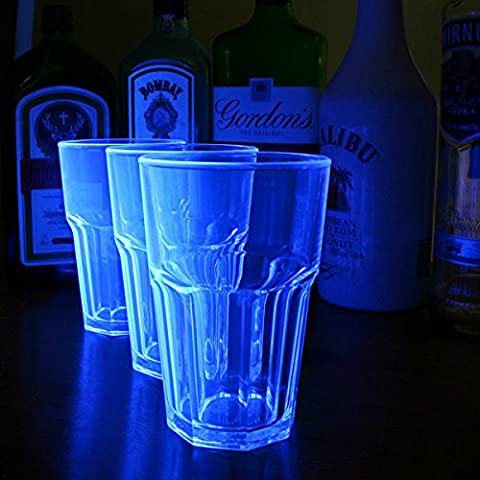 Elite Remedy Polycarbonate Neon Tumblers Blue 14oz / 400ml - Case of 24 | Neon Reusuable Tumblers
