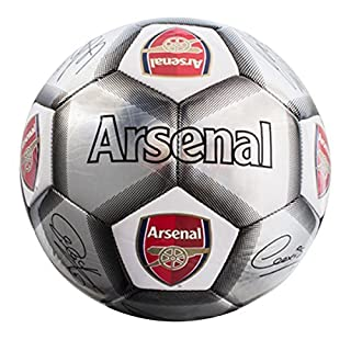 Arsenal F.C. Football Signature Silver (SV) Size 5