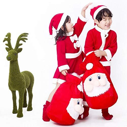 Kostüm 90 Männlich - CN Weihnachtsmann Kostüm Kind Weihnachten Kostüm Mädchen Weihnachten Kleidung Kind Little Boy,Männliches Geld,90 cm