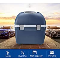 ZZWBOX Electric Cool Box Cool and Warm Coolbox for Car- Portable Car Refrigerator with Automatic Locking Handle and 20L Large Capacity, Mini Fridge Perfect for Traveling and Camping,Blue