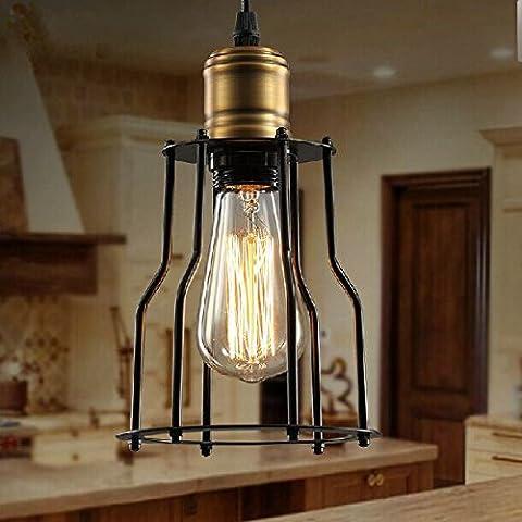 BLYC- Lampadario design continentale creativi di personalità Telaio in ferro piccole esplosioni singola testa lampada 150 * 250 (mm)