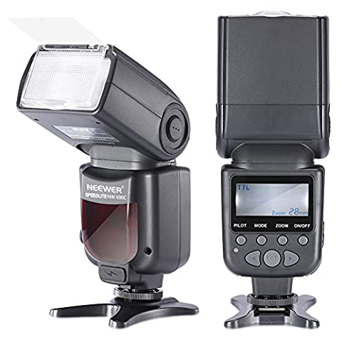 Neewer® NW690 / MK950II ETTL LCD Bildschirm Kamera Slave Blitz Speedlite für Canon EOS 700D / 650D T5i / T4i 600D / 1100D T3i / T3 550D / 500D T2i / T1i 100D / 400D SL1 / XTi 450D / XSI 300D / Digital Rebel 20D 30D 60D 5D Mark III 5D Mark II und alle anderen Canon (Blitzlicht Canon)