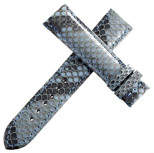 Van Der Bauwede Leder Uhrenarmband Leder blau 18mm x 17mm