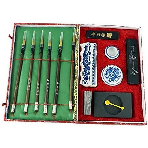 Caligrafía China / Set De Pintura (Grande 6 Cepillo)