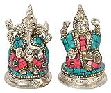 Cosmo-Craftvilla Goddess Lakshmi Idol Laxmi Ganesh Murti Statue as Diwali Pooja Items for Home Temple (4 cm x 8 cm x 6 cm)