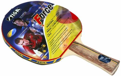 Stiga Force 178334 Tischtennisschläger, Rot, anatomisch