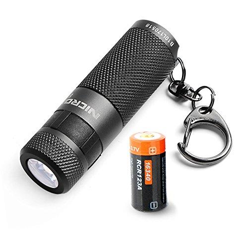 LED taschenlampe,NICRON Mini wiederaufladbare wasserdichte Super Bright 200 Lumen LED Keychain Licht