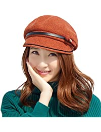 cd0f7c24c1c Womens Wool Blend Knit Visor Beanie Cloche Hat Baker Boy Hat Newsboy Cabbie  Peaked Beret Warm Lined Winter…