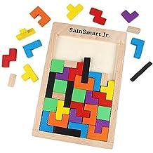 SainSmart Jr. CB-23 Madera Tangram Jigsaw Puzzle Tetris Del Juguete, Juego Educativo (40 Piezas)