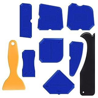 Werkzeug Schaber Kit, 9 Stück Abdichtung Werkzeug Caulk Sealant Schaber Kit Dichtmittel Entferner Fugenglätter Set für Badezimmer Küche Raum und Rahmen