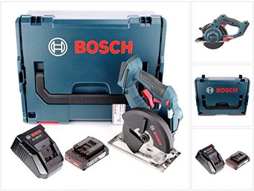 Preisvergleich Produktbild Bosch GKM 18 V-Li Professional Akku Metall Kreissäge 136 mm in L-Boxx + AL 1820 CV Ladegerät + 1 x GBA 2 Ah Akku
