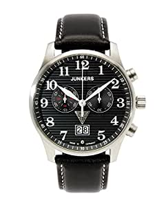 Junkers Herren-Armbanduhr XL Iron Annie JU52 Chronograph Quarz Leder 66862