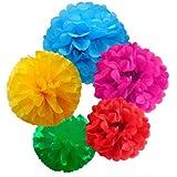 euhuton 15paquetes de pañuelos de papel bola de flores de pompones para boda fiesta y decoración de exteriores y # xFF0C; 10pulgadas, 12pulgadas, 14inch
