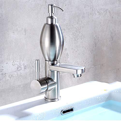 WXL Becken Wasserhahn 304 Edelstahl Einzigen Kalten Vertikal Wasserhahn Kann Hand Seife Duschgel Shampoo