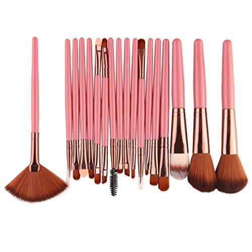 Livecity Lot de 18 Lot de brosse de maquillage Poignée en plastique cils sourcils Eyeliner Outil de Cosmétique