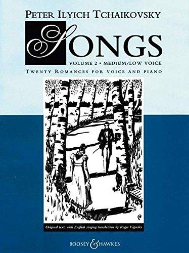 Lieder: Twenty Romanzen. Band 2. mittlere (tiefe) Singstimme und Klavier. mittel/tief. -