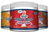 Frankys Bakery Candy Flavor Kalorienarm Aroma Lebensmittelaroma Amerikanischen Geschmack 200g Diät (Peanut Butter & Caramel -Erdnussbutter & Karamell)