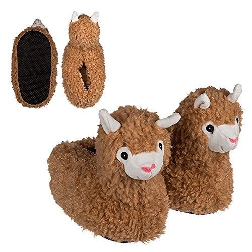 Preis am Stiel Kuschel-Hausschuhe \'\'Lama\'\' - Größe: 39/40 | Pantoletten Damen | Geschenk für Mädchen | Lama Geschenk | Pantoffeln | Plüsch Hausschuhe | Alpaka | lustige Geschenke