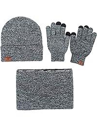 XZDXR Bufanda del sombrero unisex ocasional suave caliente de la manera del  invierno de la bufanda de los hombres del… 4d1ae0e4340