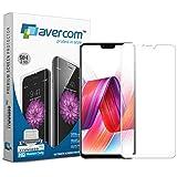 AVERCOM™ Edge to Edge Screen Coverage Full Glue 5D Curved Premium Tempered Glass Screen Protector for Vivo V9 (White)