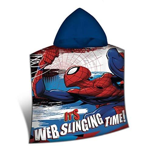 Disney-Spiderman Poncho poliéster, mv15400m, 100x 150cm