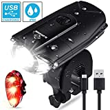 Best Bike Light Rechargeables - N.ORANIE LED Bicycle Lights Set, USB Rechargeable Bicycle Review