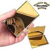 Yobansa® Visitenkarten-Etui aus Edelstahl, auch für Kreditkarten geeignet, Unisex gold