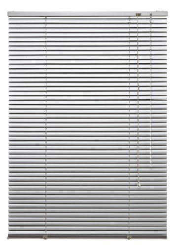 WR-Design Alu Jalousie Silber - Breite 40 bis 240 cm - Höhe 130/160 / 220 cm - Tür Fenster Rollo Jalousette Aluminium Fensterjalousie Lamellen Metall (90 x 130 cm)