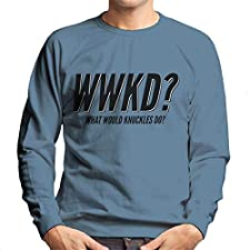 Cloud City 7 What Would Knuckles Do Sonic The Hedgehog Men's Sweatshirt