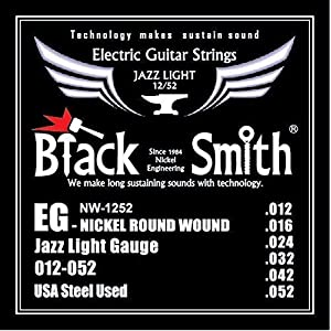 Blacksmith NW12-52 Pro Electric Guitar Strings Jazz Light Gauge 12-52
