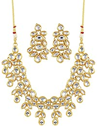 a1776a427e0459 Shining Diva Fashion Stylish Kundan Traditional Necklace Set for Women Jewellery  Set with Earrings for Women
