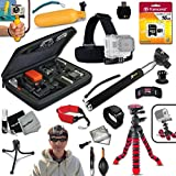 Xtech Ideal 19 Piece Accessory Kit for GoPro HERO4 Hero 4, GoPro Hero3+, GoPro Hero3, GoPro Hero2, GoPro HD Motorsports HERO, GoPro Surf Hero, GoPro Hero Naked, GoPro Hero 960, GoPro Hero HD 1080p, GoPro Hero2 Outdoor Edition Digital Cameras Includes Head Strap Mount, 12 Flexible Tripod, 16GB High Speed Memory Card + Custom Large Case + Hand Held Monopod + Floating Handle + Remote Wrist Strap + Floating Foam Strap + Universal Card Reader + Mini Table Tripod + HeroFiber Cleaning Cloth