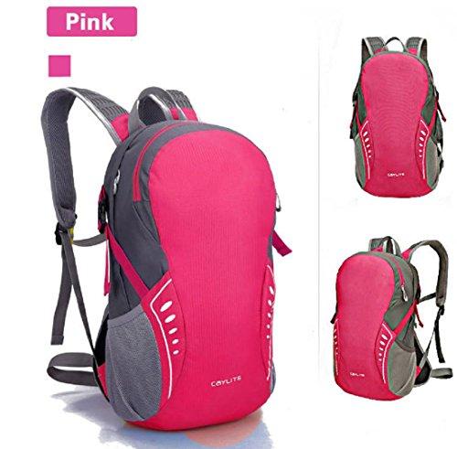 Un sacco di linea impermeabile ultra carica di nuovo giorno sport borsa spalla equitazione escursionismo zaino nuovo uomini e donne 38 * 24 * 15 cm , black , 19 inch Pink