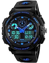 SKMEI Sports Analog-Digital Blue Dial Men's Watch-SkmeiMW56A