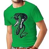 lepni.me N4327 T-shirt da uomo La chitarra (Small Verde Multicolore)