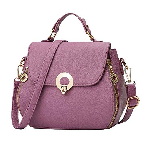Damenhandtasche Art Und Weisehandtaschen Kurierbeutel-Schulterbeutel Beiläufiges Wildes Einfaches Purple