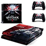 eFinger Vinyle Protection for The Witcher 3 Wild Hunt Design Decal Skin Sticker Autocollant for PS4 Playstation 4 Console+Controllers