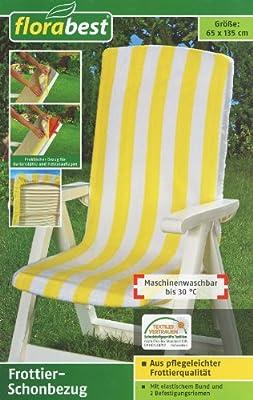 Frottier-Schonbezug für Gartenstühle (Maße siehe Beschreibung)