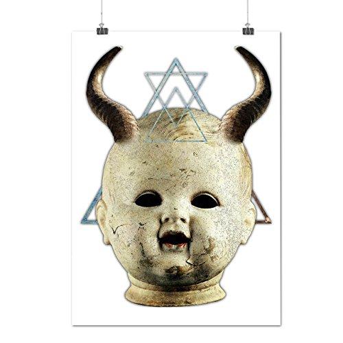 Teufel Gote Satan Horror Dunkel Prinz Mattes/Glänzende Plakat A3 (42cm x 30cm)   (Krieger Prinz Kostüm)