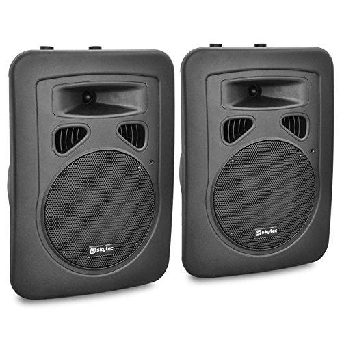 Paar 20cm (8 Zoll) DJ PA Aktiv Boxen Lautsprecher 400W Outdoor Flansch