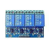 DaoRier 4-CH 5V 10A 4 Kanäle Relais Modul-Brett 4 CH Relay Module Isolierte Optokoppler für Arduino TTL Logik PIC DSP AVR ARM