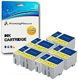10 Druckerpatronen für Epson Stylus Colour 1160, 1500, 1520, 1520K, 1520H, 740, 740i, 760, 800, 800N, 810, 850, 850N, 850NE, 860, Scan 2000, 2500, 2500 Pro | kompatibel zu T051, T052