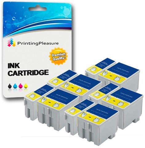 10 Tintenpatronen Kompatibel zu Epson T040 T041 für Epson Stylus C62 CX3200 - Schwarz/Color, Hohe Kapazität (Cx3200 Tinte C62 Schwarz)